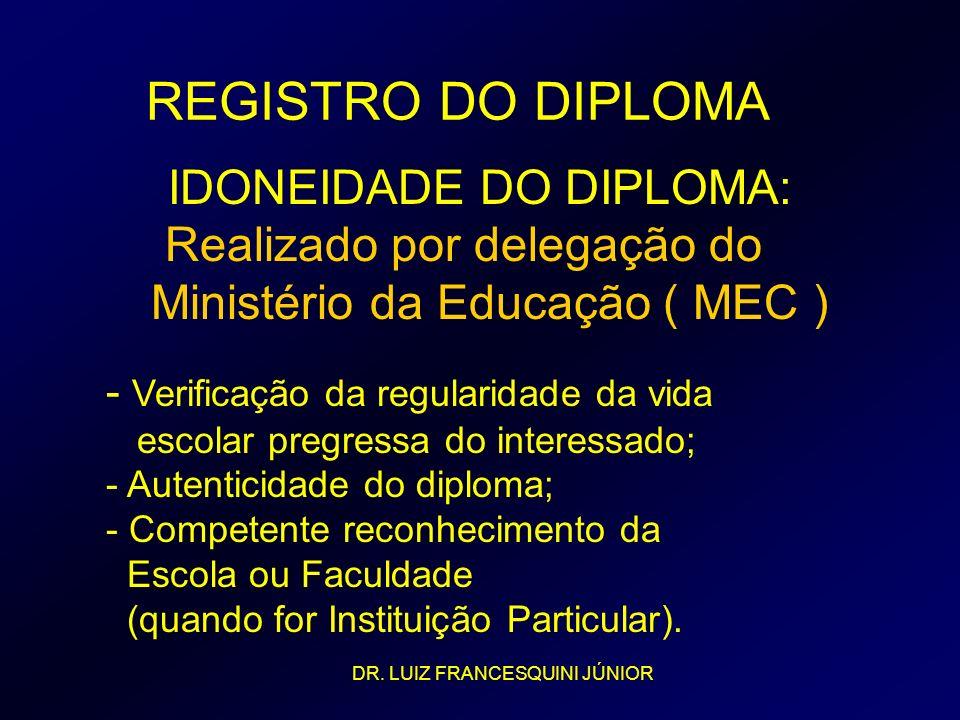 IDONEIDADE DO DIPLOMA: