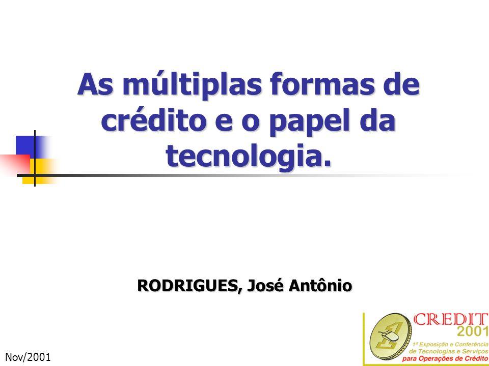 As múltiplas formas de crédito e o papel da tecnologia.