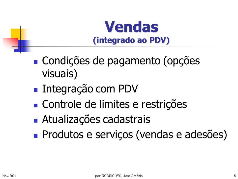 Vendas (integrado ao PDV)