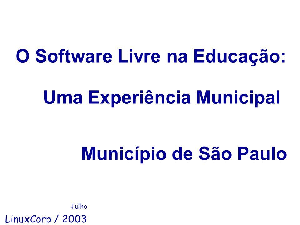 O Software Livre na Educação: