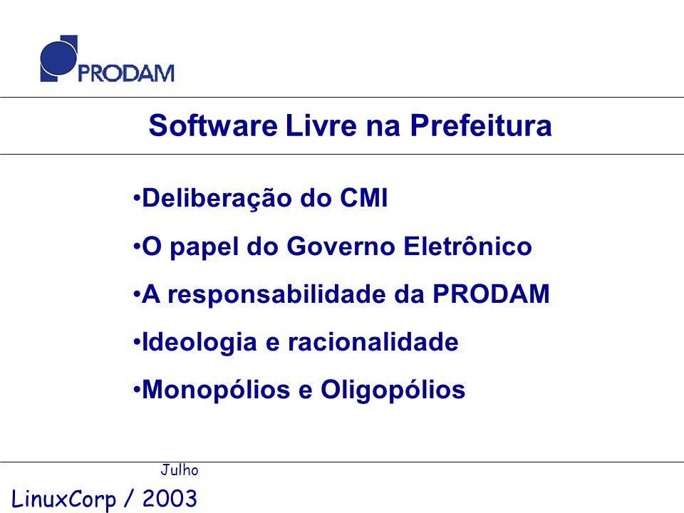 Software Livre na Prefeitura