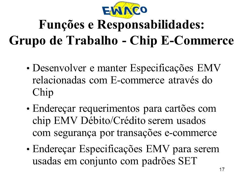 Funções e Responsabilidades: Grupo de Trabalho - Chip E-Commerce
