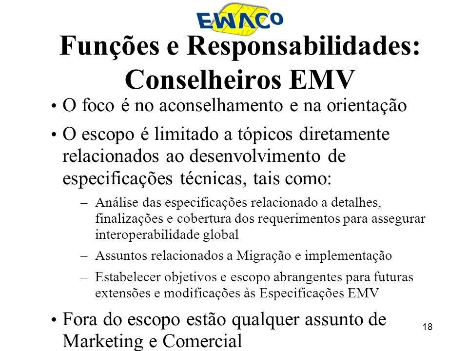 Funções e Responsabilidades: Conselheiros EMV