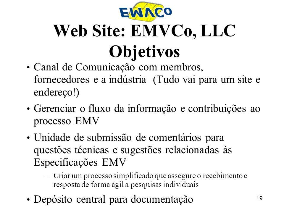 Web Site: EMVCo, LLC Objetivos