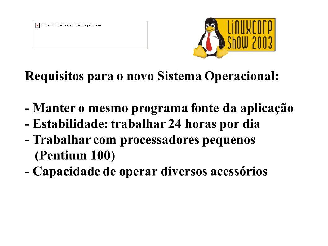 Requisitos para o novo Sistema Operacional: