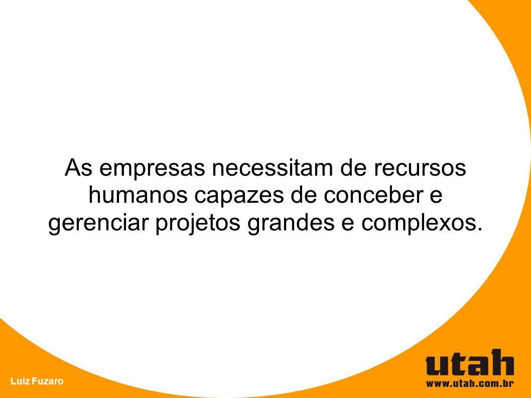 As empresas necessitam de recursos humanos capazes de conceber e gerenciar projetos grandes e complexos.