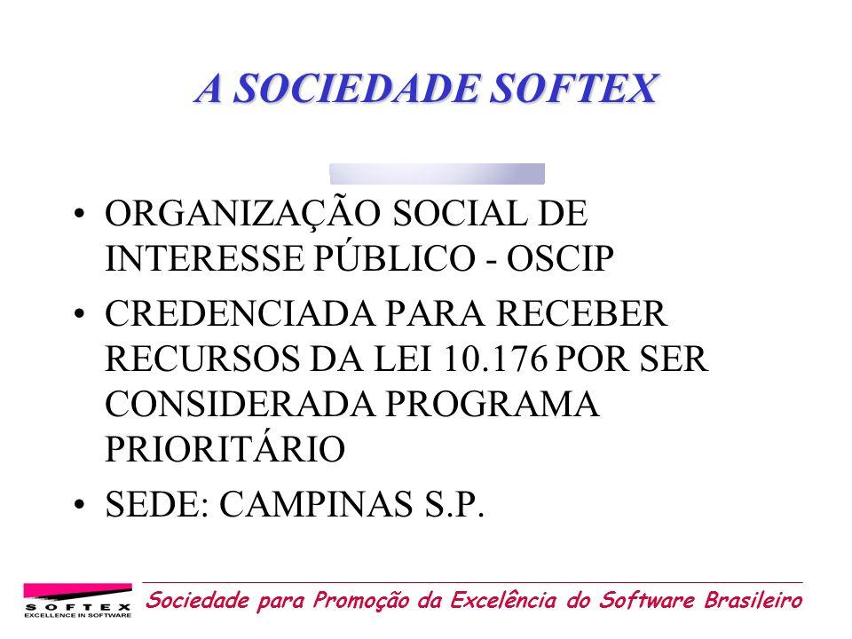 A SOCIEDADE SOFTEX ORGANIZAÇÃO SOCIAL DE INTERESSE PÚBLICO - OSCIP
