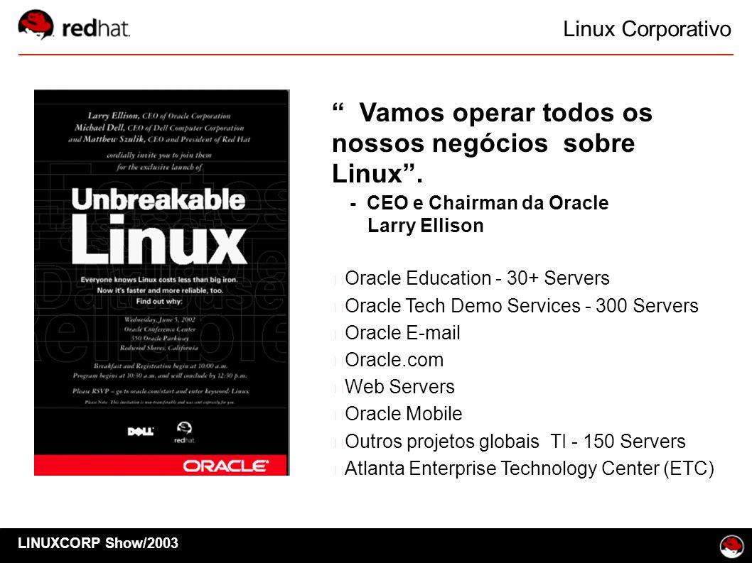 Vamos operar todos os nossos negócios sobre Linux .