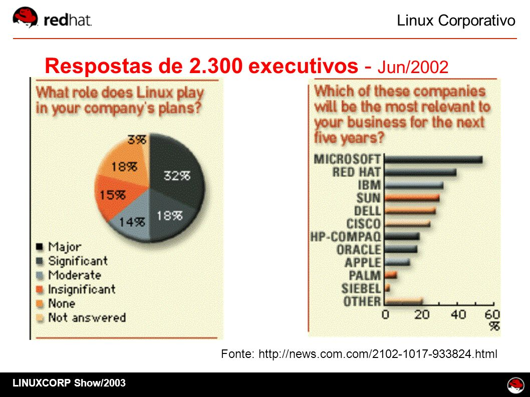 Respostas de 2.300 executivos - Jun/2002