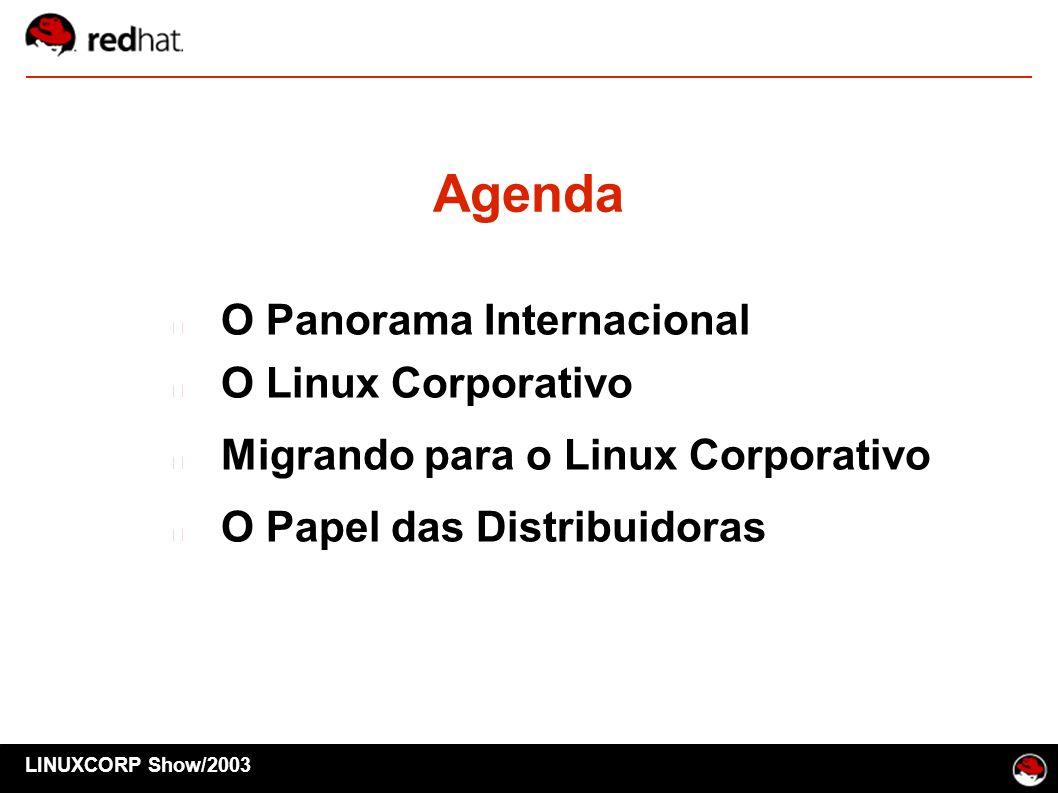 Agenda O Panorama Internacional O Linux Corporativo