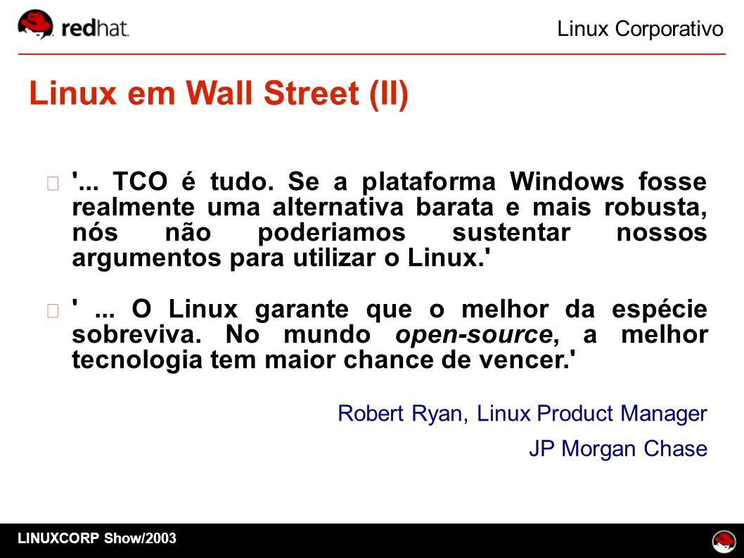 Linux em Wall Street (II)