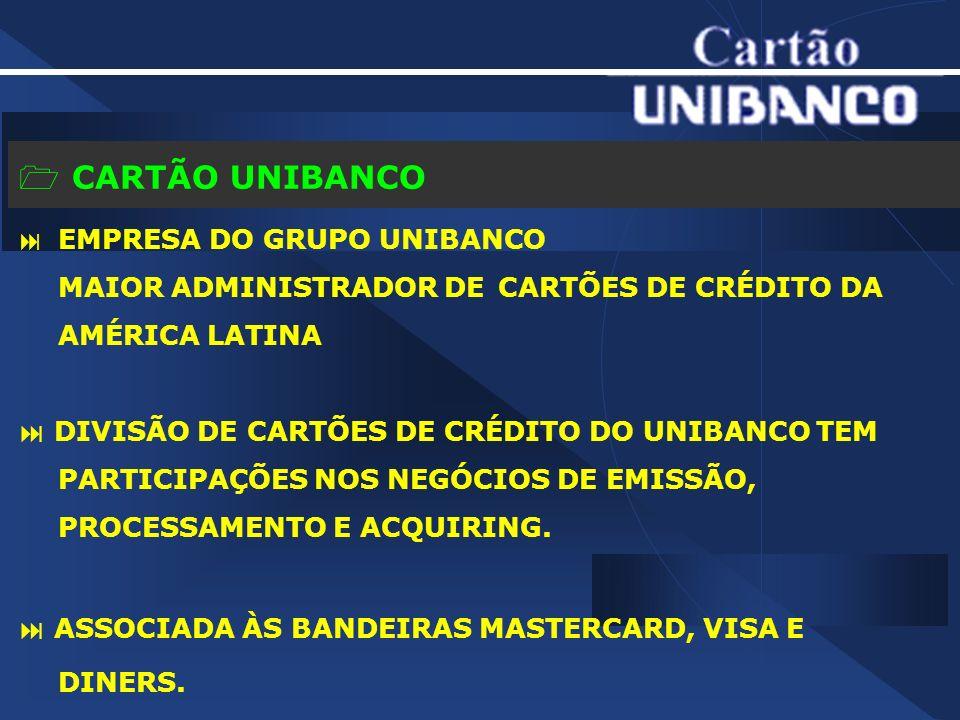CARTÃO UNIBANCO MAIOR ADMINISTRADOR DE CARTÕES DE CRÉDITO DA