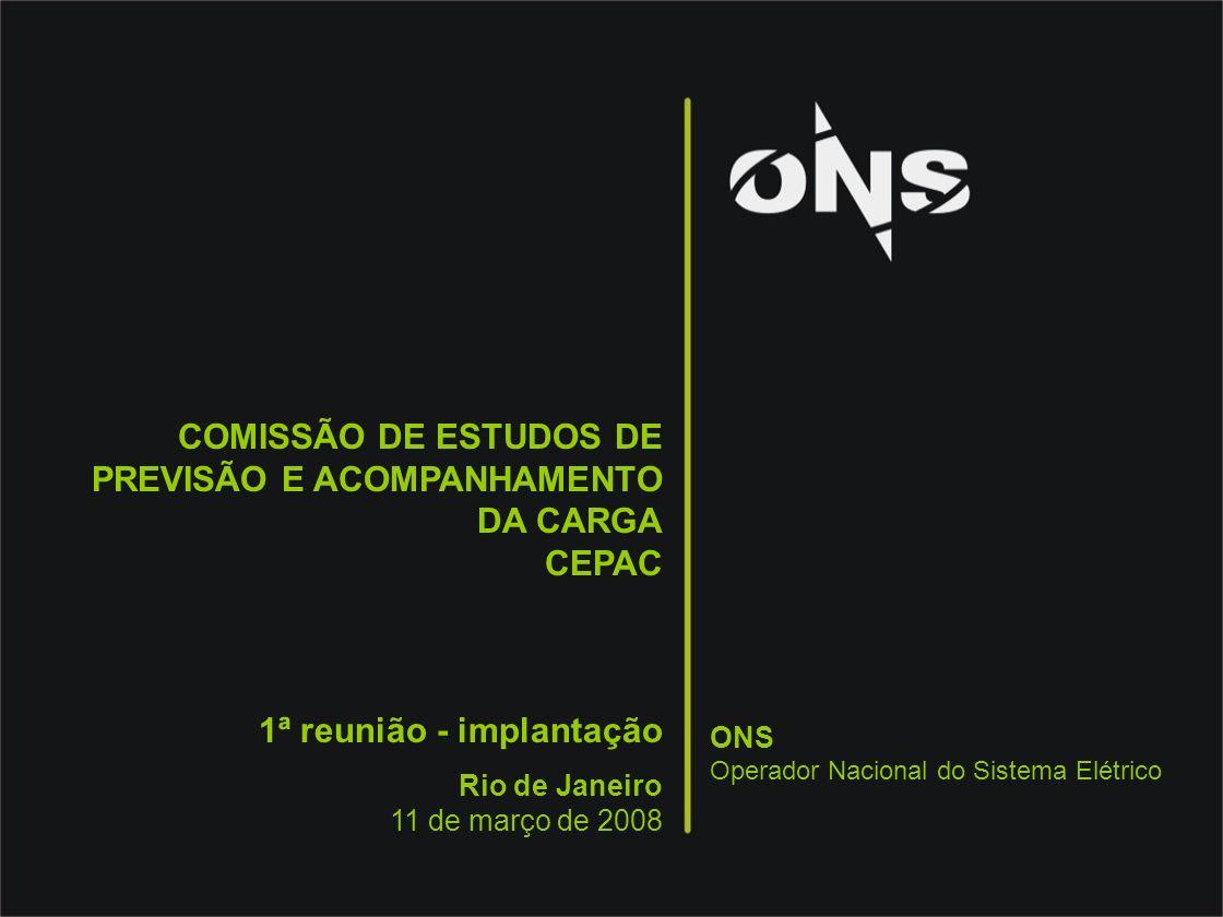COMISSÃO DE ESTUDOS DE PREVISÃO E ACOMPANHAMENTO DA CARGA