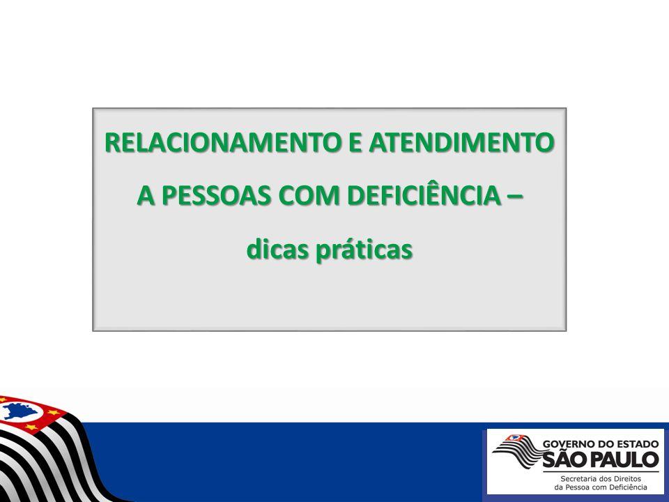 RELACIONAMENTO E ATENDIMENTO A PESSOAS COM DEFICIÊNCIA –