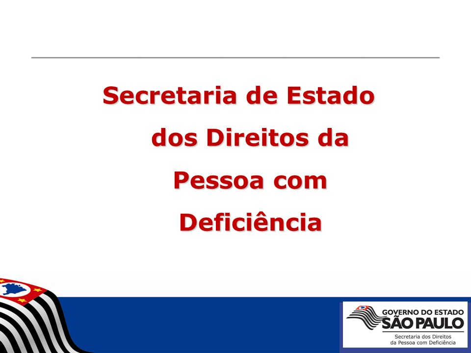 Secretaria de Estado dos Direitos da Pessoa com Deficiência