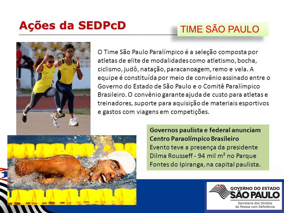 Ações da SEDPcD TIME SÃO PAULO