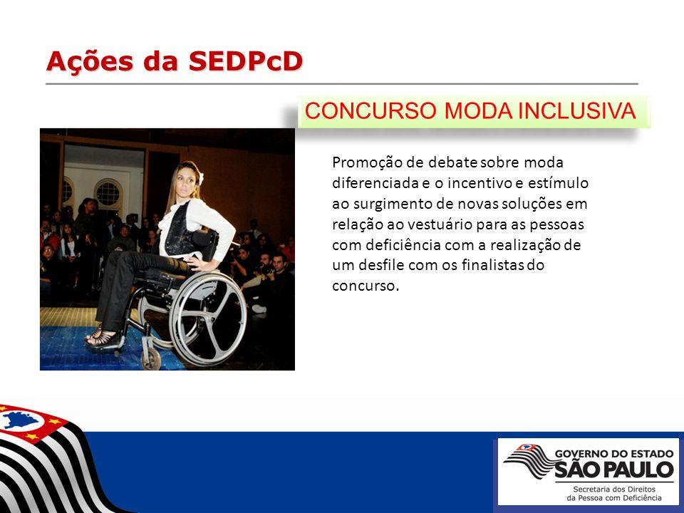 Ações da SEDPcD CONCURSO MODA INCLUSIVA
