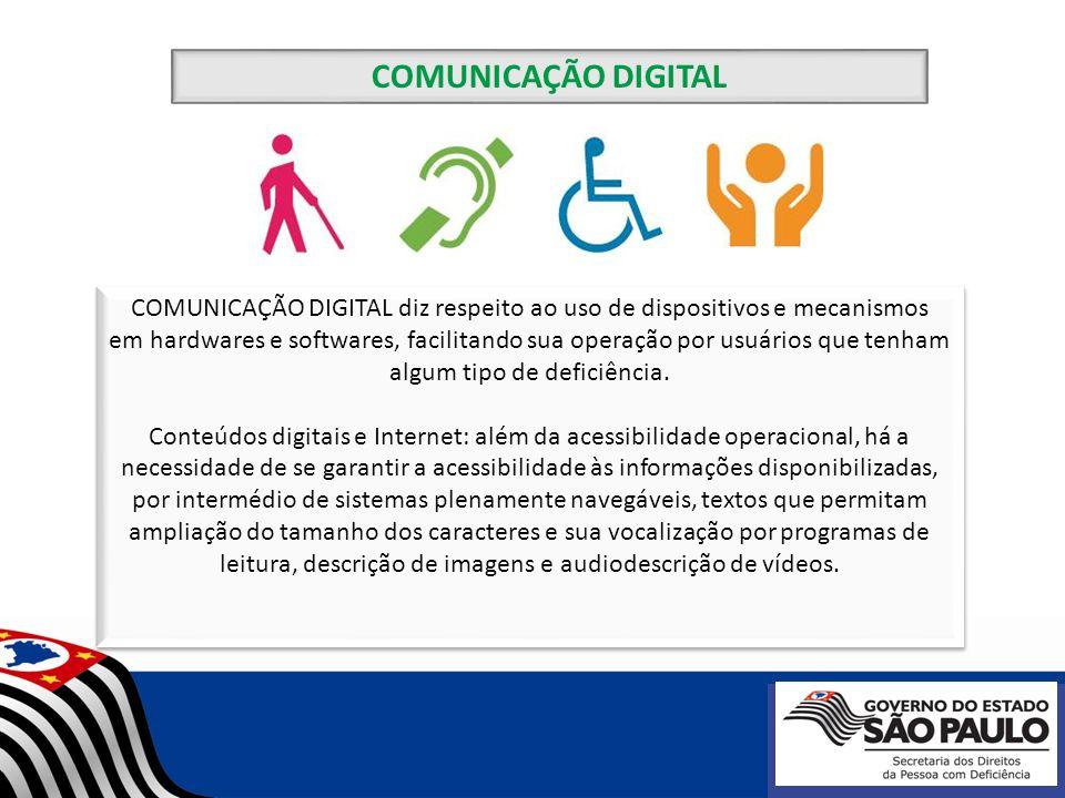 COMUNICAÇÃO DIGITAL diz respeito ao uso de dispositivos e mecanismos