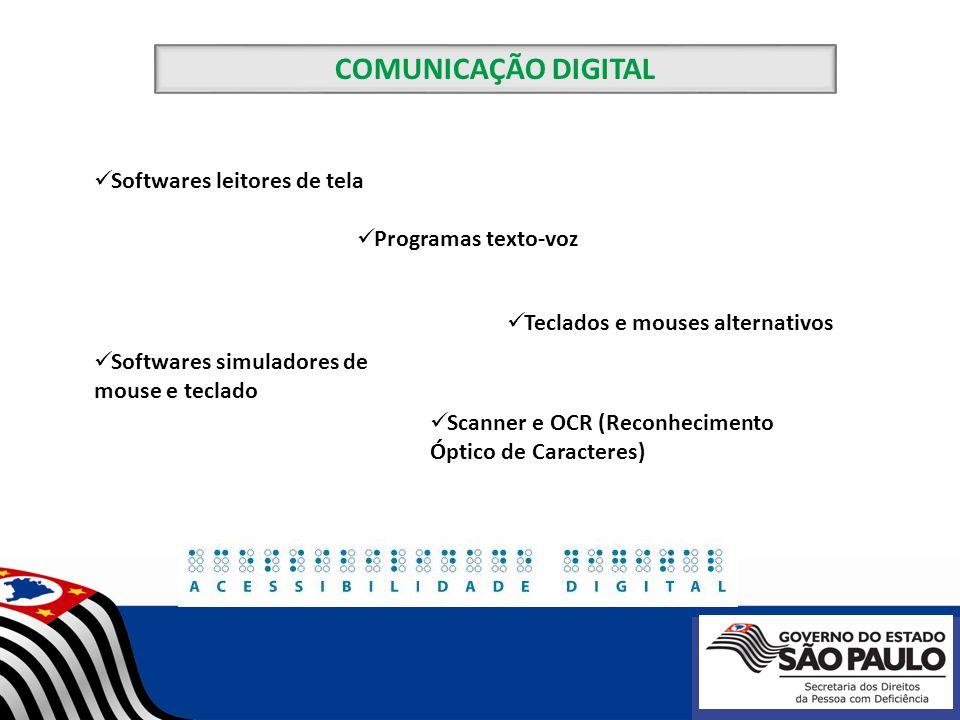 COMUNICAÇÃO DIGITAL Softwares leitores de tela Programas texto-voz