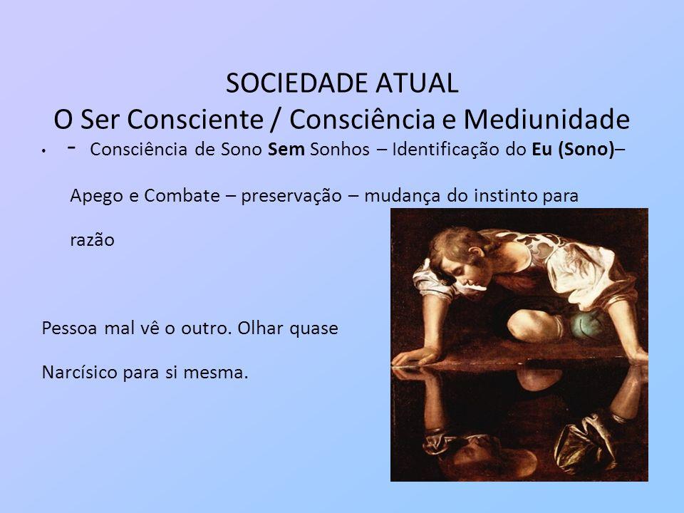 SOCIEDADE ATUAL O Ser Consciente / Consciência e Mediunidade