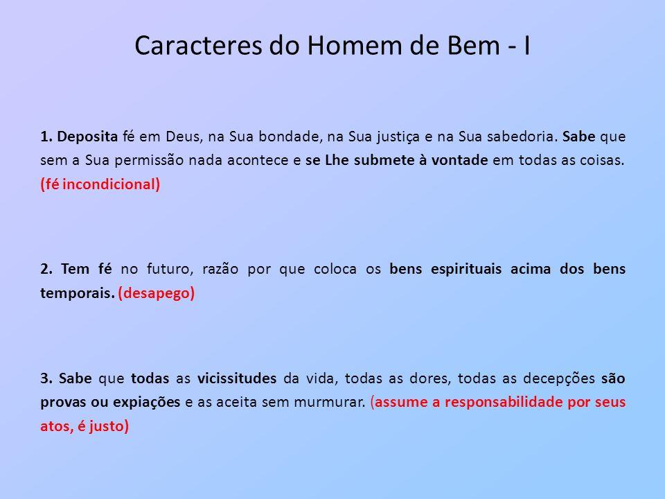 Caracteres do Homem de Bem - I