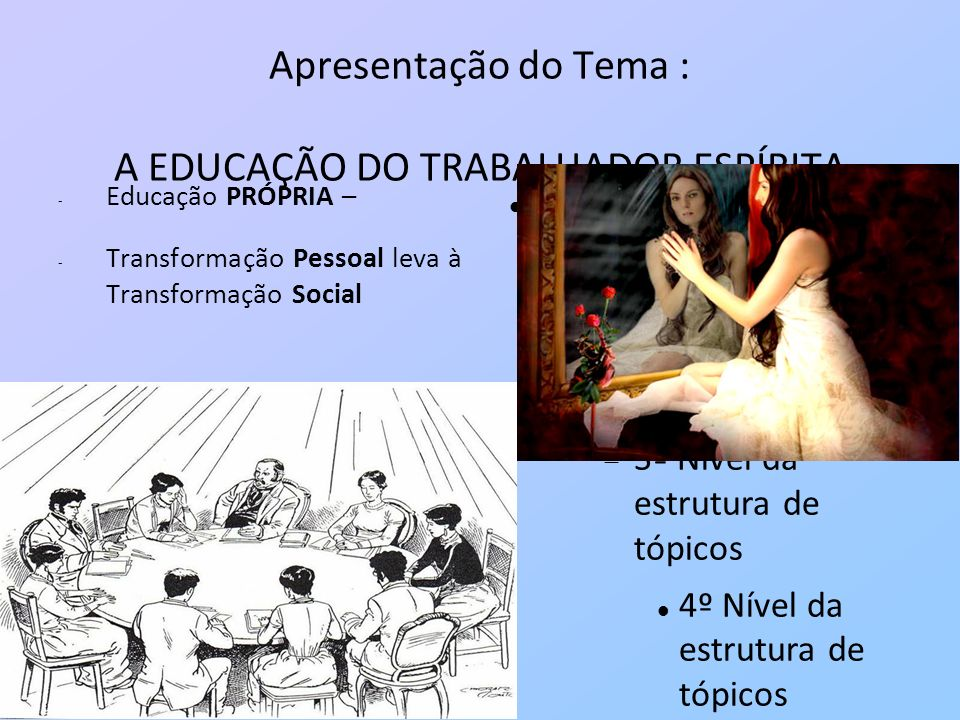 Apresentação do Tema : A EDUCAÇÃO DO TRABALHADOR ESPÍRITA