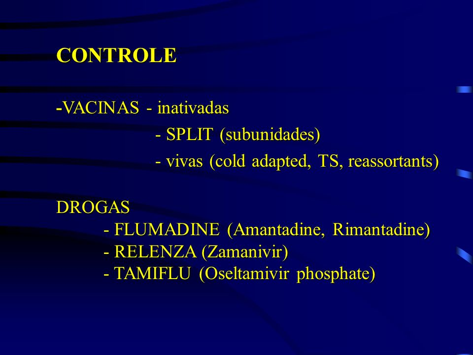 CONTROLE -VACINAS - inativadas - SPLIT (subunidades)