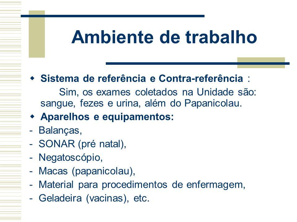 Ambiente de trabalho Sistema de referência e Contra-referência :
