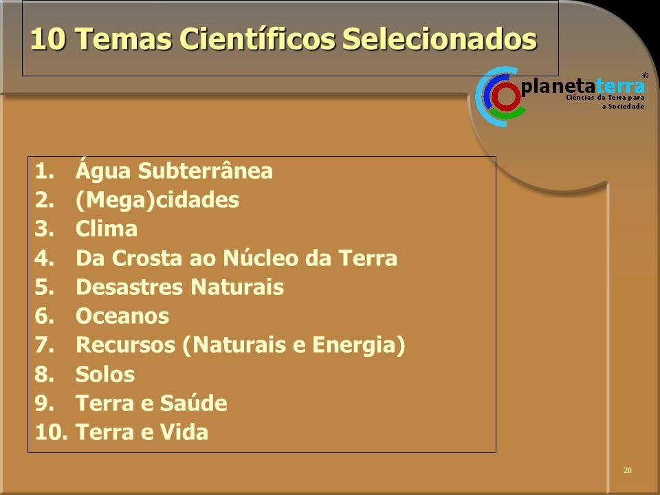 10 Temas Científicos Selecionados