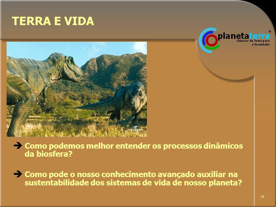 TERRA E VIDA Como podemos melhor entender os processos dinâmicos da biosfera