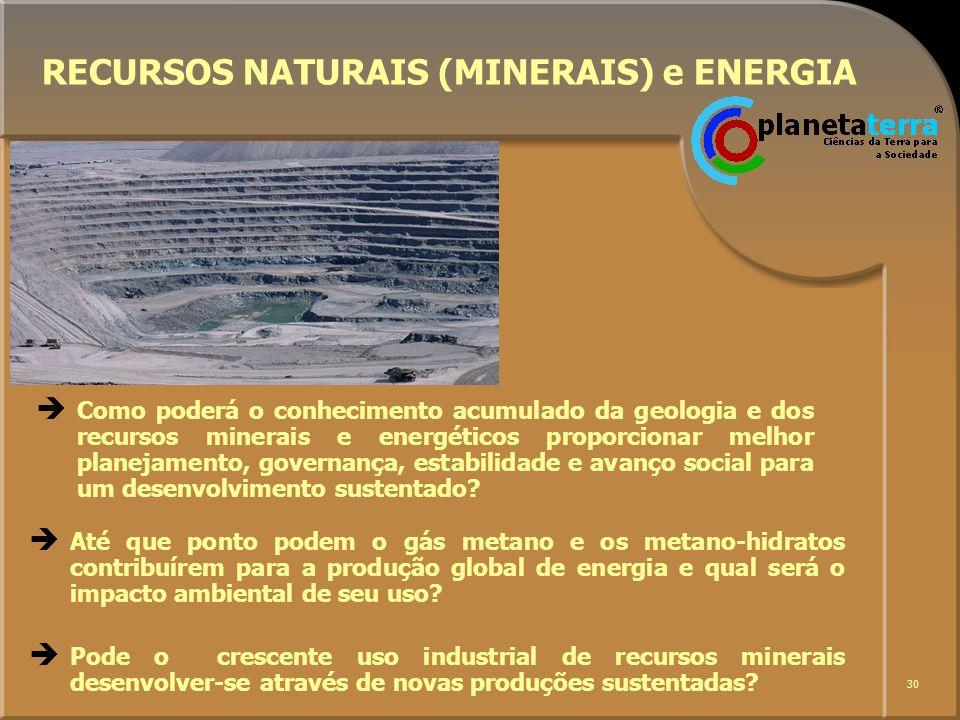 RECURSOS NATURAIS (MINERAIS) e ENERGIA