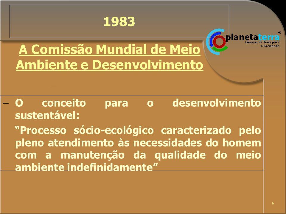 A Comissão Mundial de Meio Ambiente e Desenvolvimento