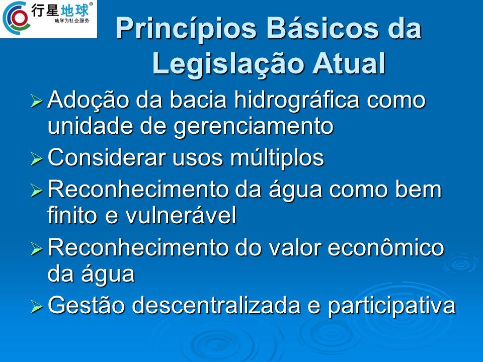 Princípios Básicos da Legislação Atual