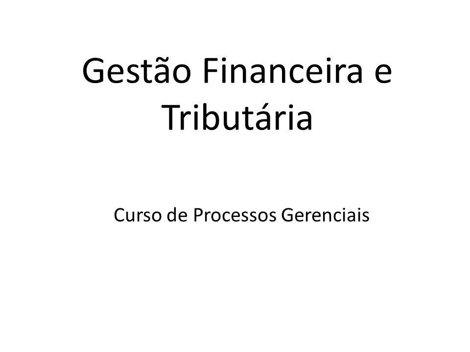 Gestão Financeira e Tributária