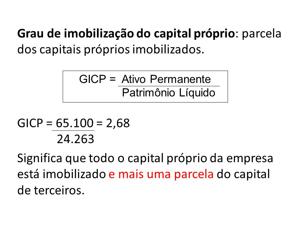 GICP = Ativo Permanente