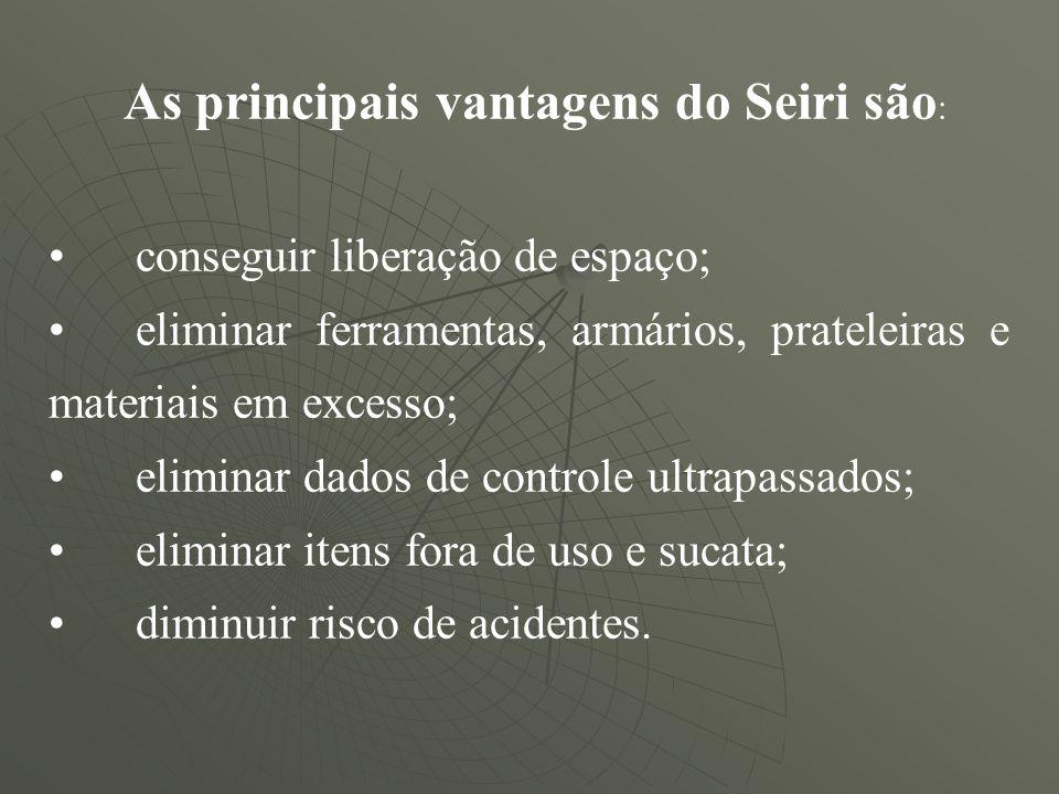 As principais vantagens do Seiri são: