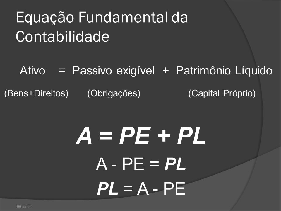 Equação Fundamental da Contabilidade