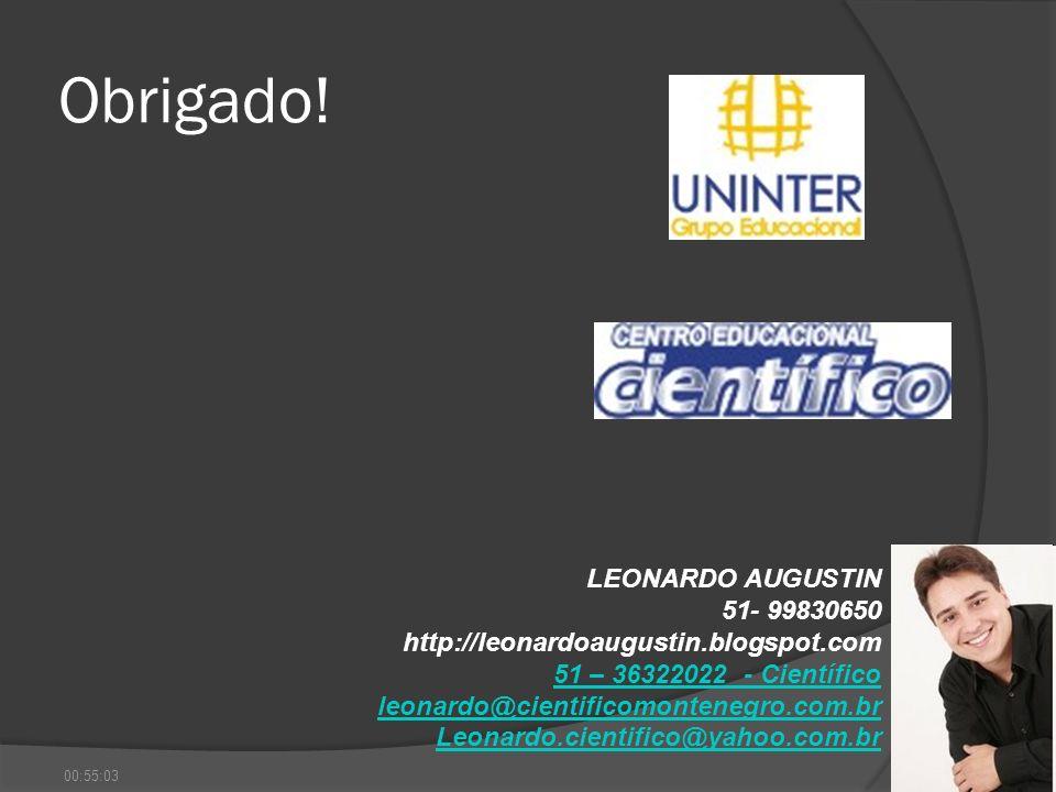 Obrigado! LEONARDO AUGUSTIN 51- 99830650