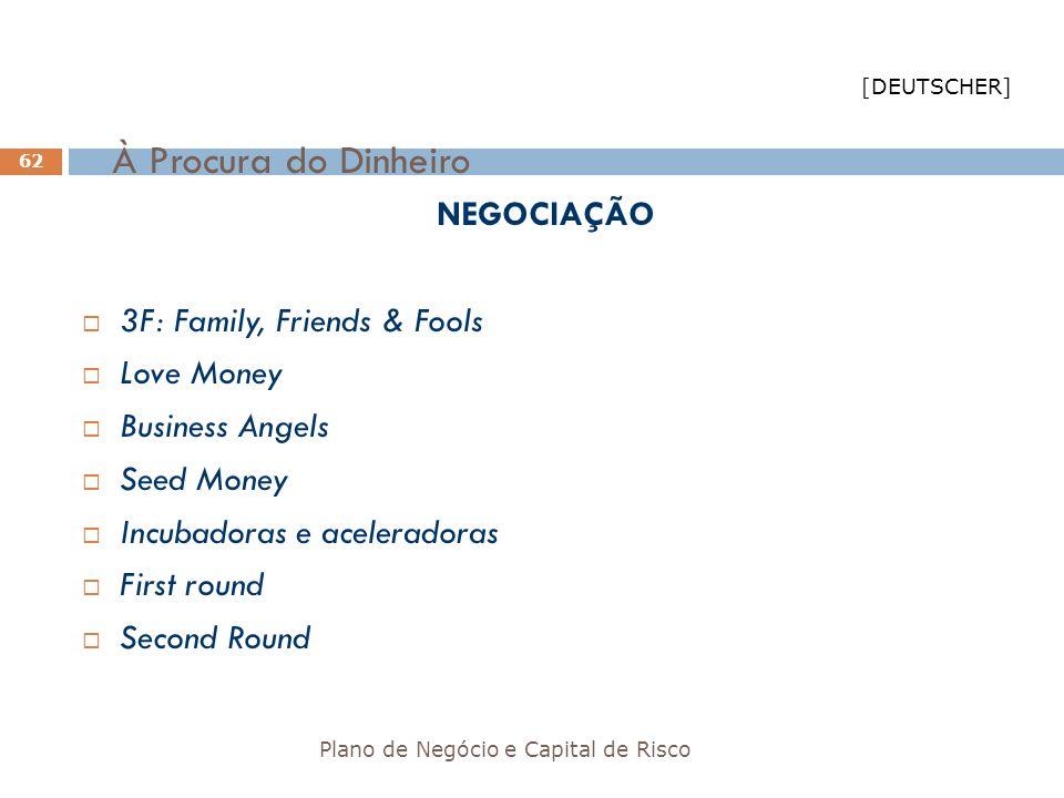 À Procura do Dinheiro NEGOCIAÇÃO 3F: Family, Friends & Fools