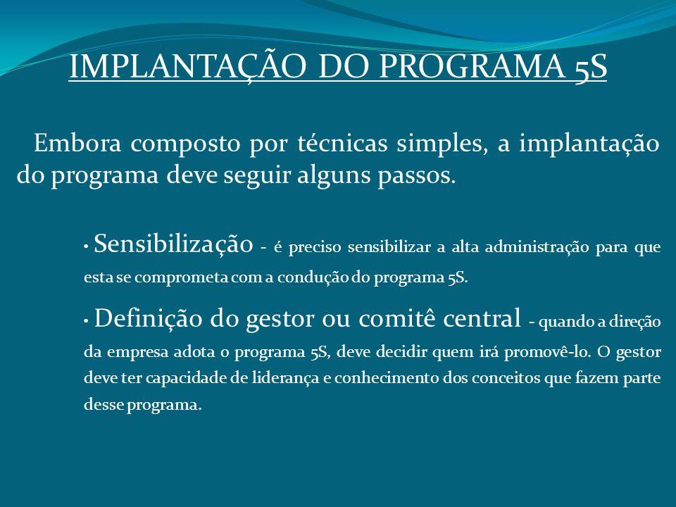 IMPLANTAÇÃO DO PROGRAMA 5S