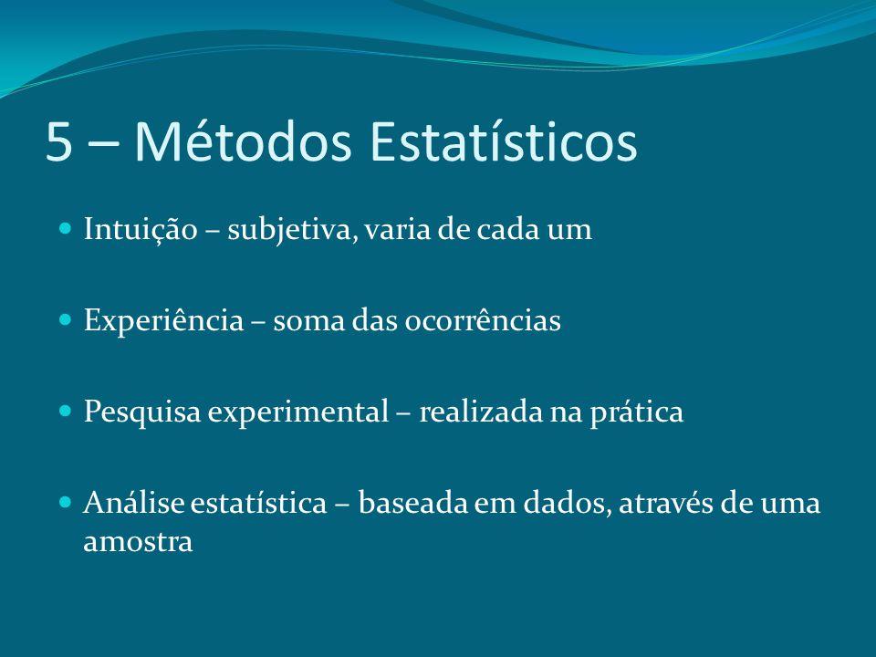 5 – Métodos Estatísticos