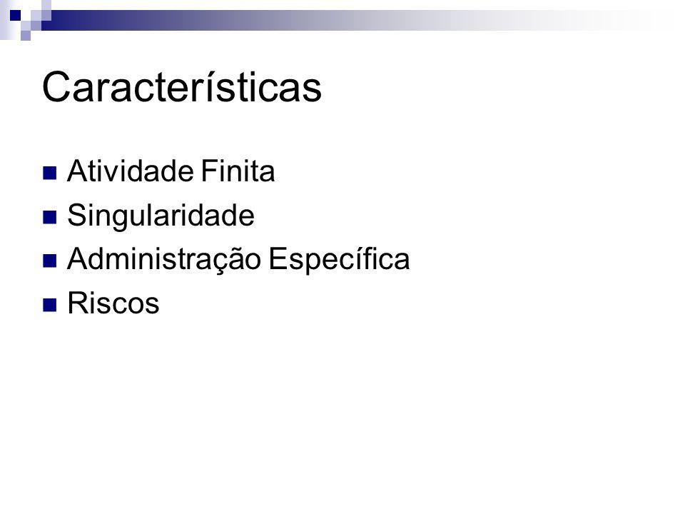 Características Atividade Finita Singularidade