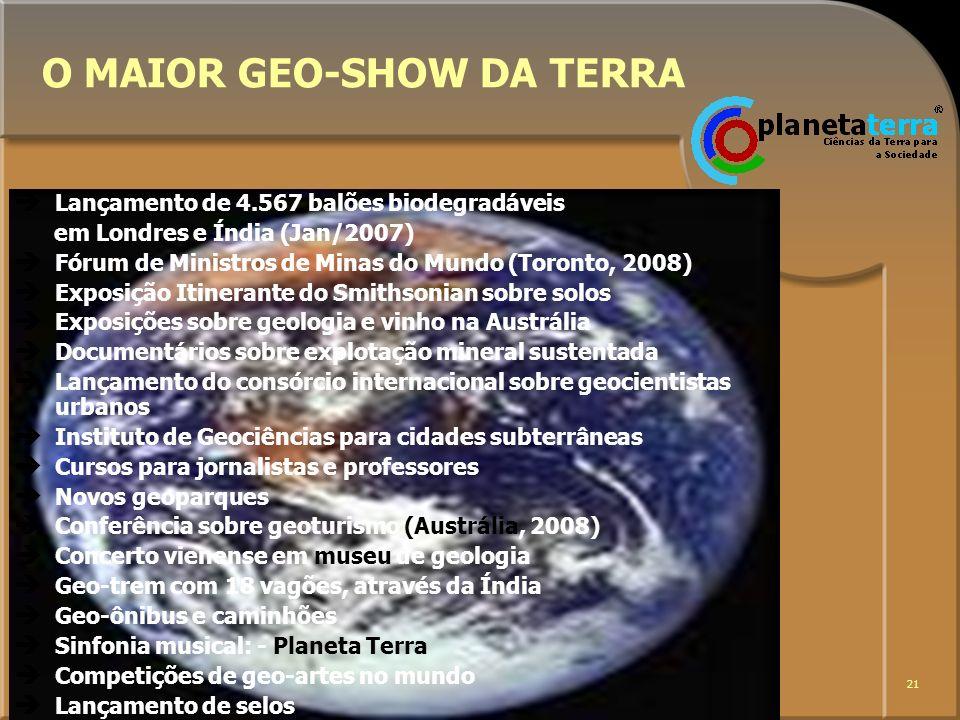 O MAIOR GEO-SHOW DA TERRA