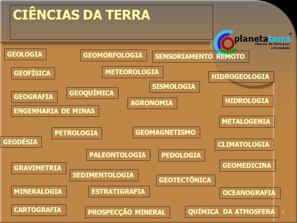 CIÊNCIAS DA TERRA GEOLOGIA GEOMORFOLOGIA SENSORIAMENTO REMOTO