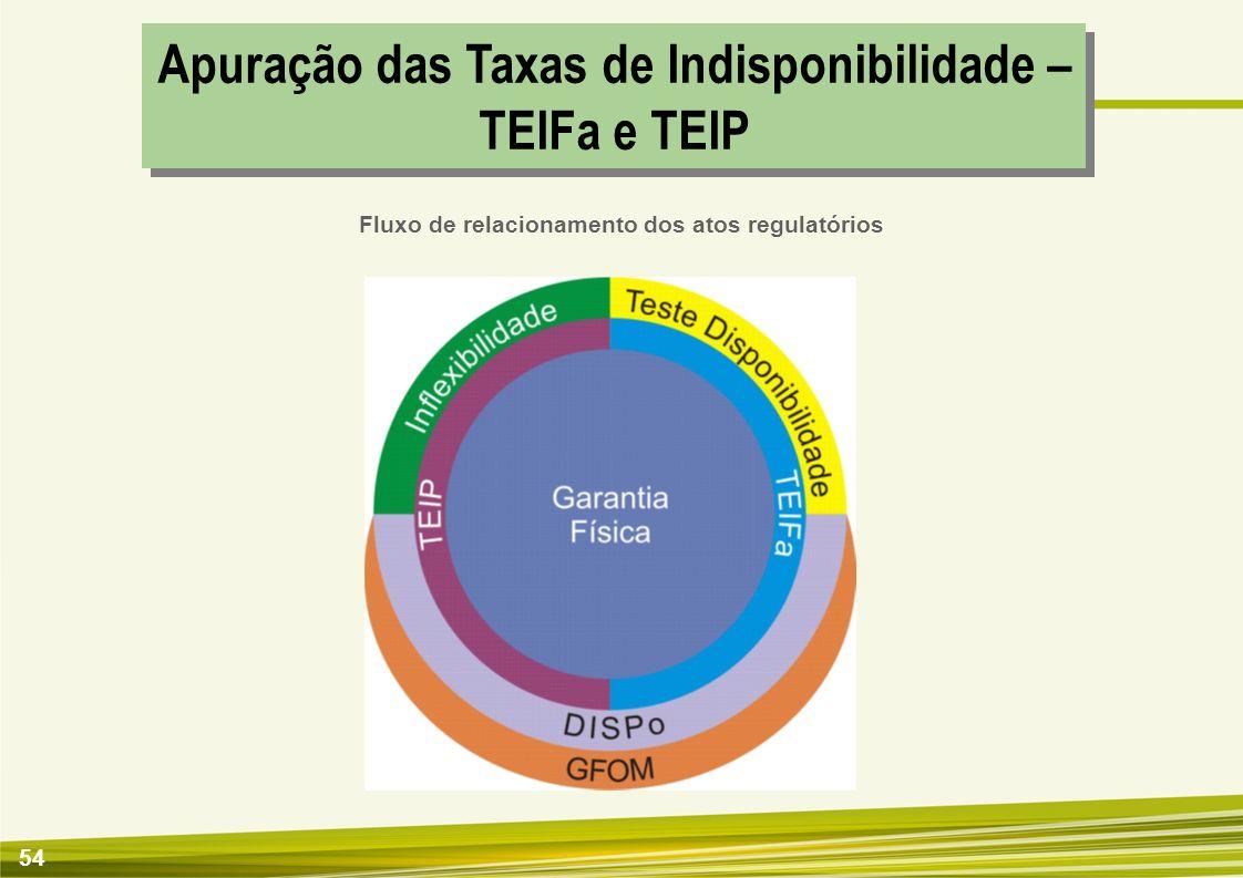 Apuração das Taxas de Indisponibilidade – TEIFa e TEIP