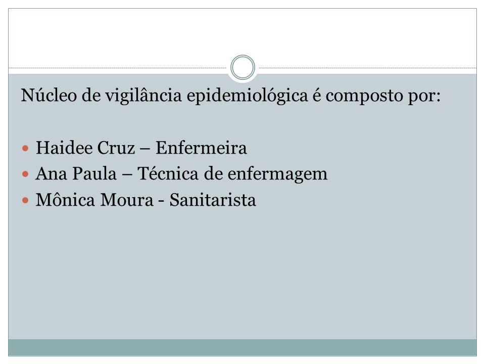 Núcleo de vigilância epidemiológica é composto por: