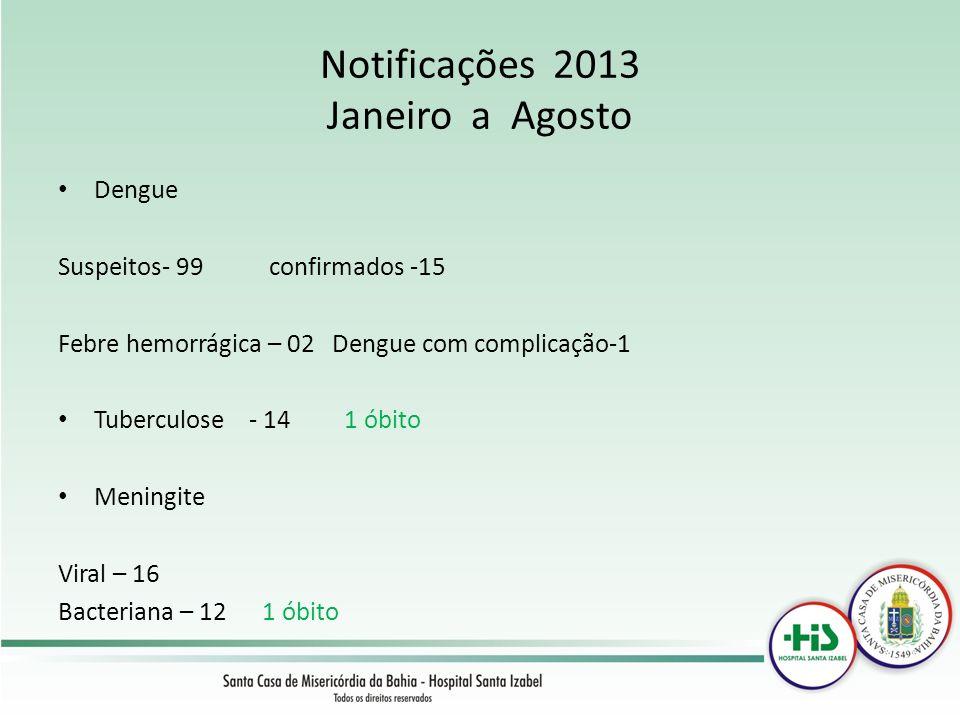 Notificações 2013 Janeiro a Agosto