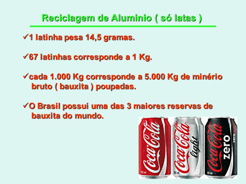 Reciclagem de Aluminio ( só latas )