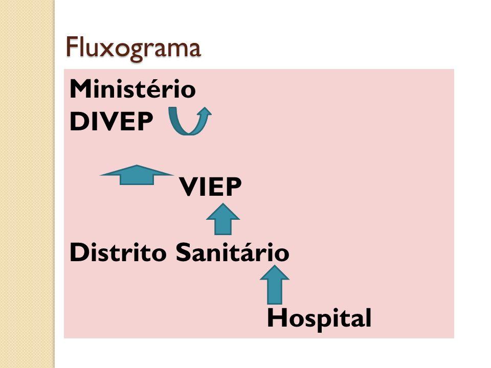 Fluxograma Ministério DIVEP VIEP Distrito Sanitário Hospital