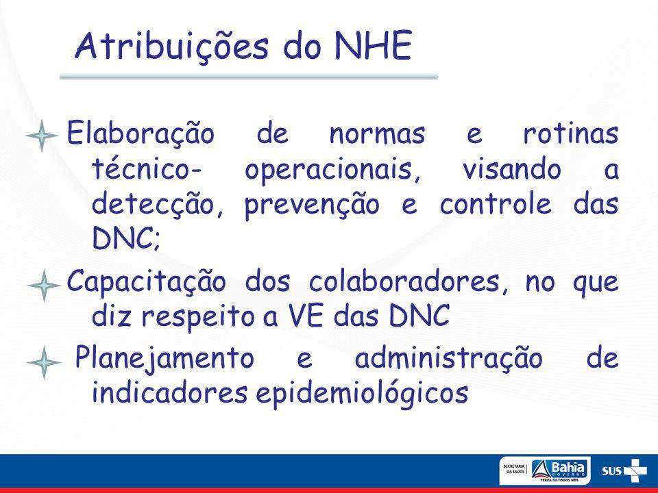 Atribuições do NHE